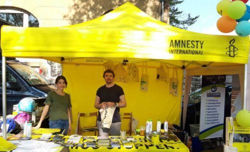 Infostand am ZAKK Straßenfest